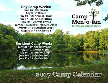 2017 Camp Dates