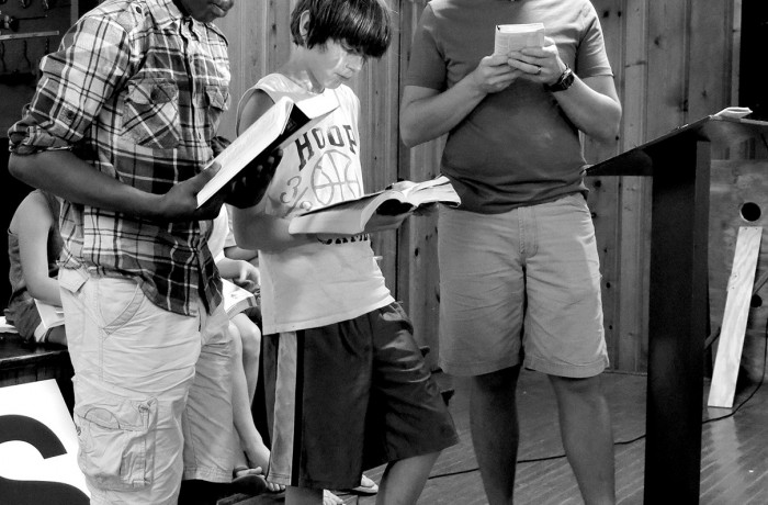 Boys Reading Bibles