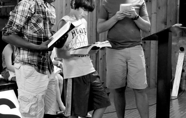 Boys Reading Bibles